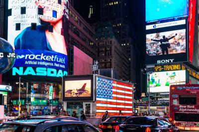 Big display at Times Square