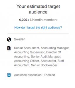 Målgrupper på LinkedIn
